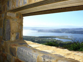 Brenton on Sea Stonework Sandstone Window over Knysna