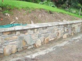Ireland House – Stone Retaining Walls