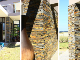 Welgelegen, South-Africa – Slate Feature Walls and Pillars
