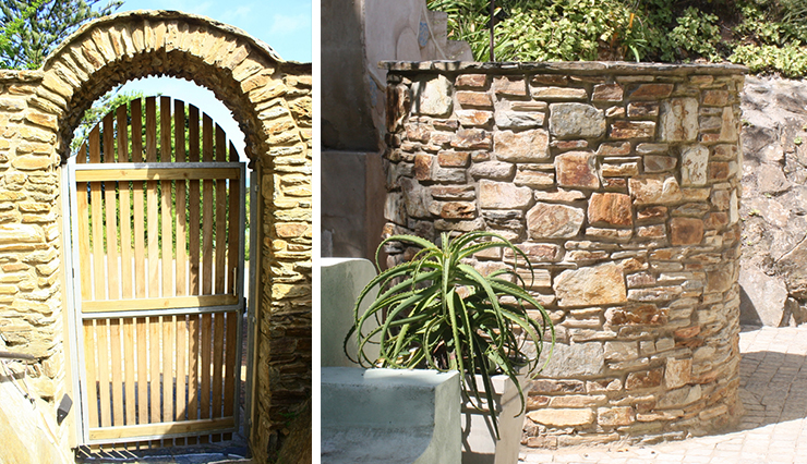 Wilderness House – Stone Entrance and Stone Walls